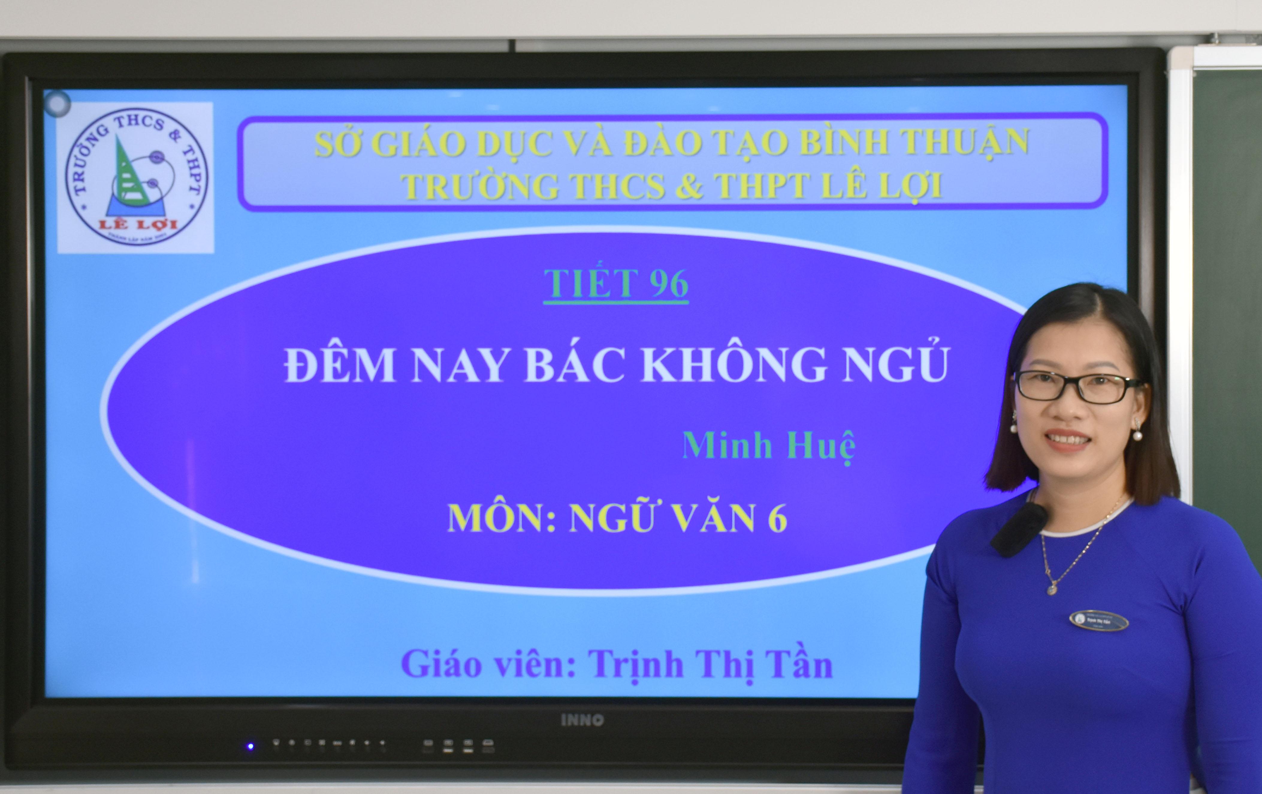 Khối lớp 6 - Đêm nay Bác không ngủ-Minh Huệ - Cô Trịnh Thị Tần