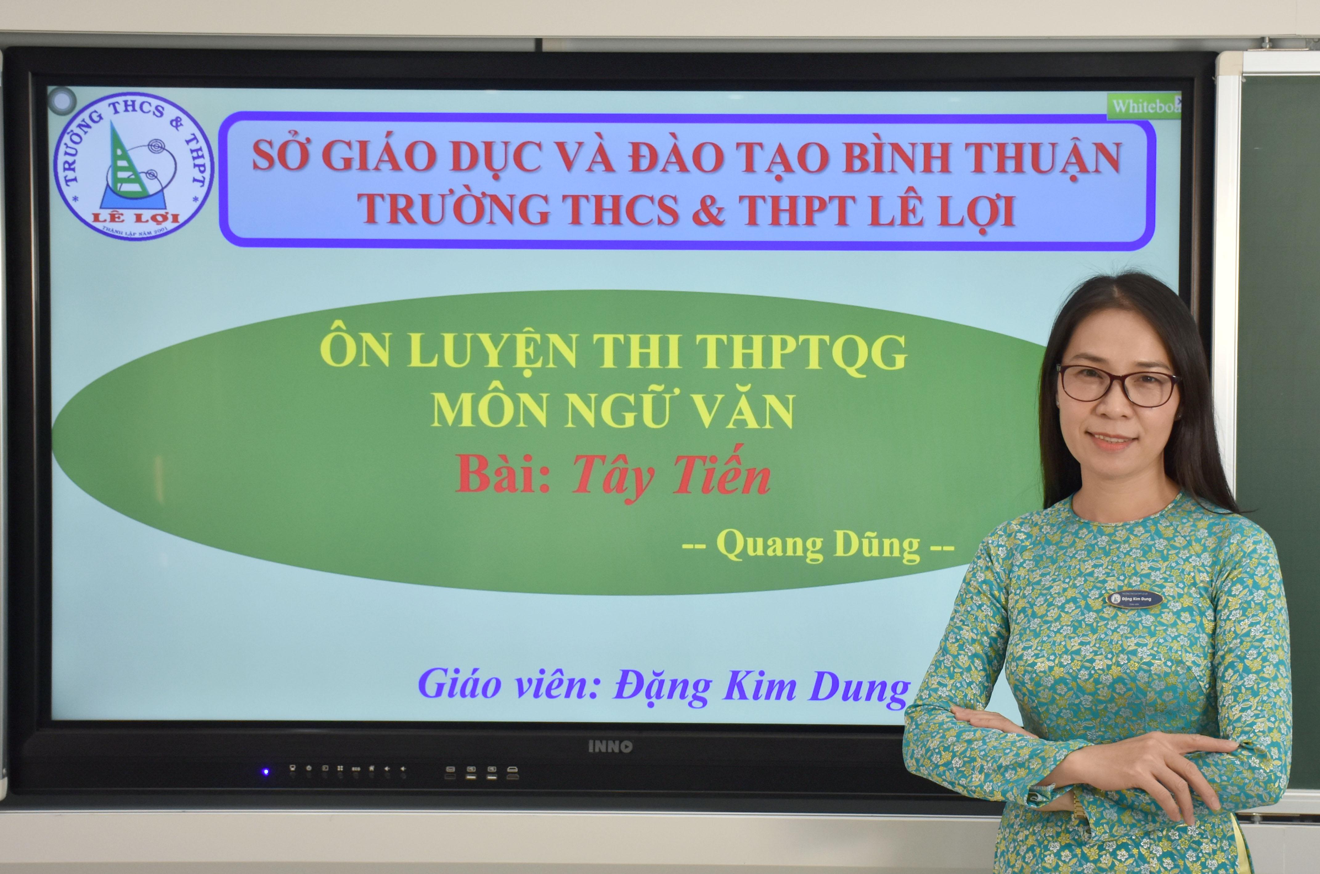 Khối lớp 12 - Tây Tiến-Quang Dũng - Cô Đặng Kim Dung