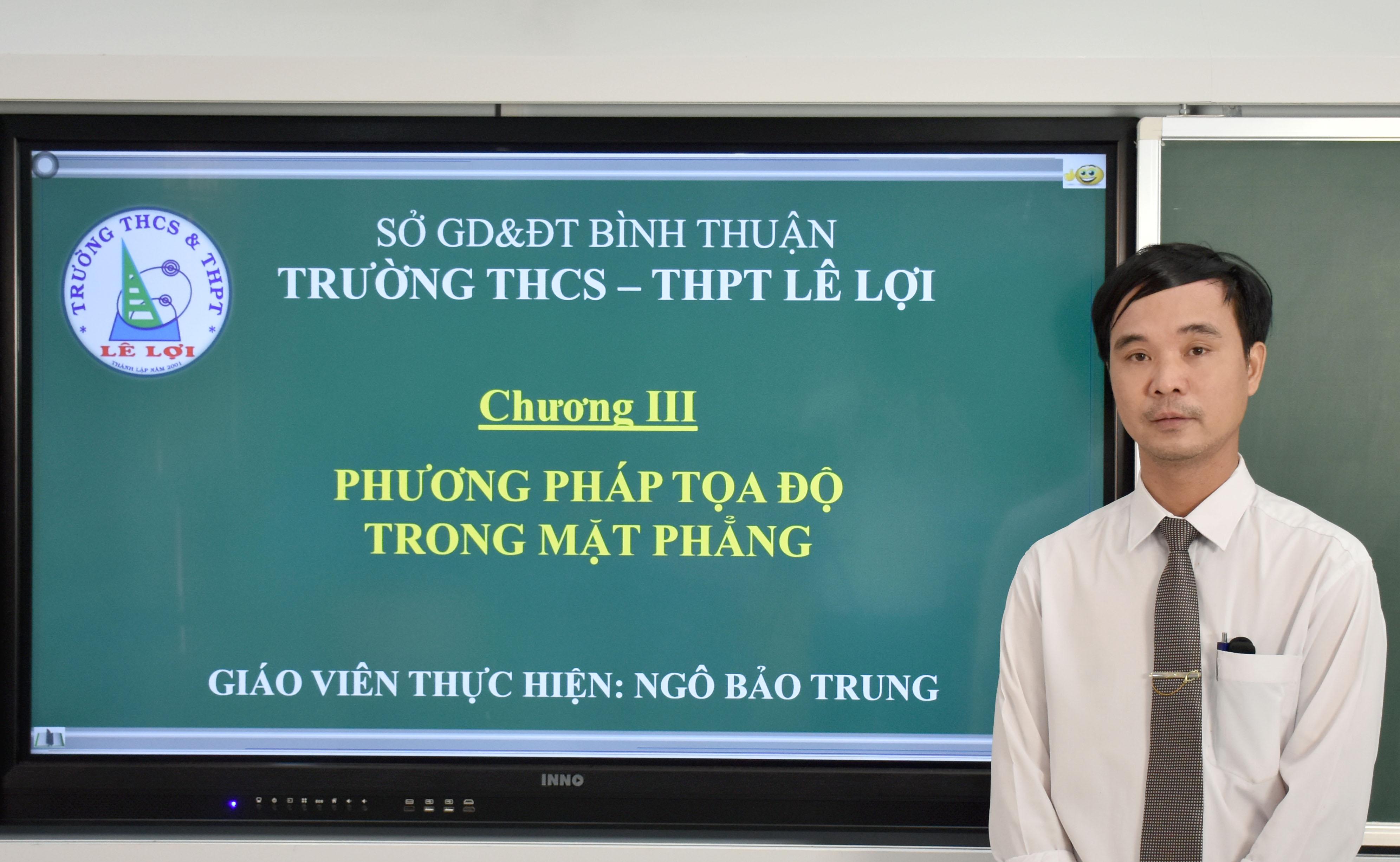 Khối lớp 10 - Phương pháp tọa độ trong mặt phẳng - Thầy Ngô Bảo Trung